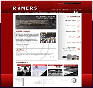Romers Electronics Site Design